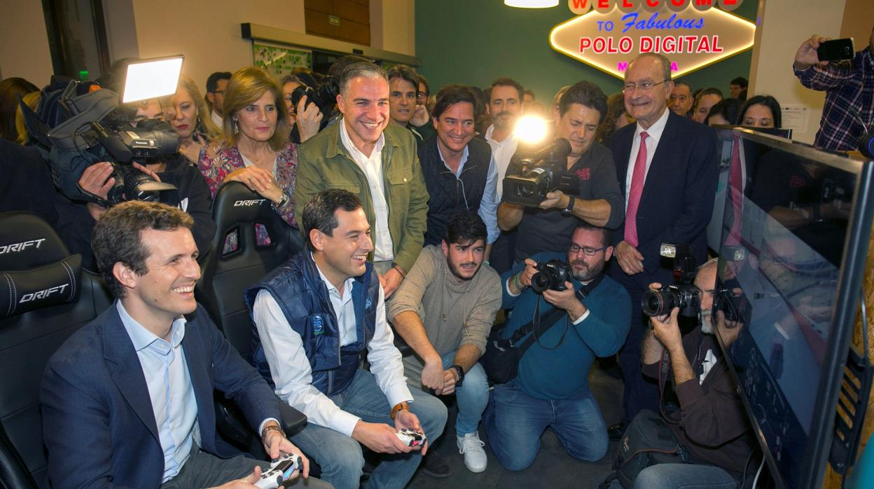 Casado alerta a los andaluces: «Votar a Susana Díaz es votar a Sánchez» y sus socios separatistas