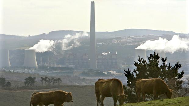 Panorámica de la central térmica de As Pontes (La Coruña)