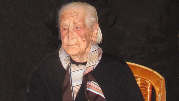 Teófila Gutiérrez el día de su 110 aniversario