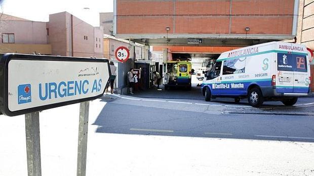 Puerta del Servicio de Urgencias del hospital de Toledo