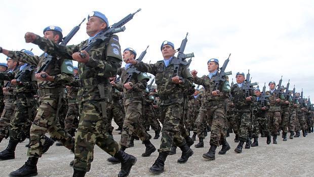 Soldados pertenecientes a la Brigada de Infantería Mecanizada «Guzmán el Bueno» X