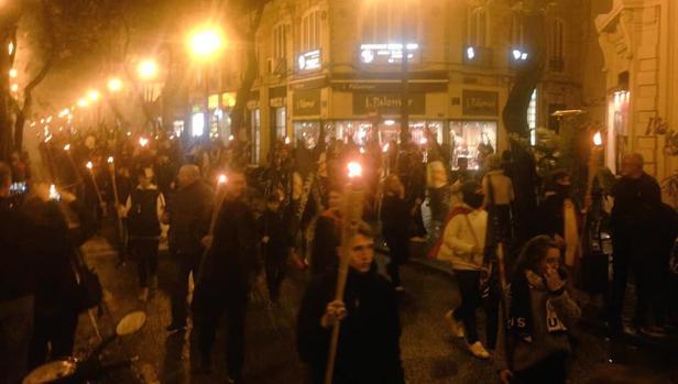 Imagen difundida por España 2000 del acto celebrado el pasado sábado en Valencia