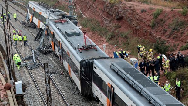 El tren ha descarrillado a su paso por Vacarisses