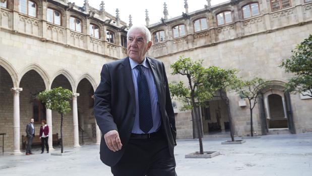 El hasta hoy consejero de Exteriores, Ernest Maragall, en el Palau de la Generalitat