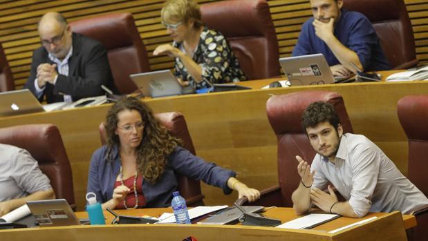 Antonio Estañ, durante un pleno de las Cortes Valencianas