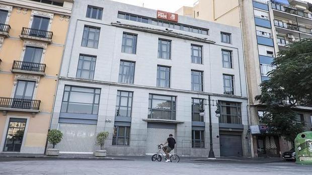 Imagen de archivo de la antigua sede del PSPV-PSOE en Valencia