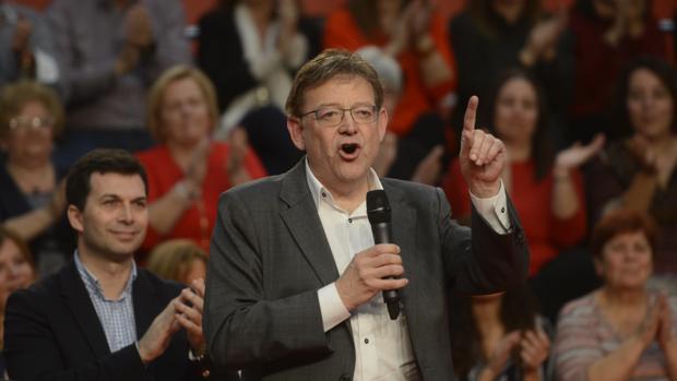 Ximo Puig , en un acto del PSOE en Madrid