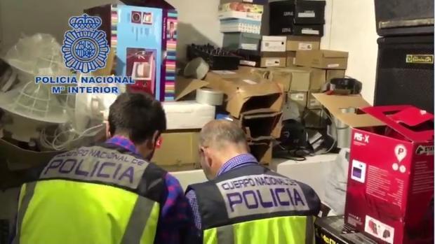 Material que se ha incautado la Policía