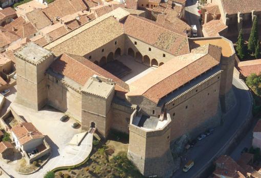 Vista aérea del castillo de Mora de Rubielos