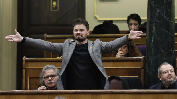 Gabriel Rufián, en el Congreso de los Diputados