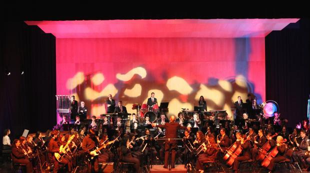 Un momento de uno de los conciertos por Santa Cecilia en el Auditori Teulada Moraira