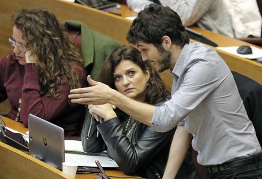 Antonio Estañ, síndic de Podemos, en la Cámara