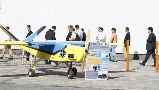 Instalaciones del polo aeronáutico de Rozas, situado en Castro de Rei, Lugo