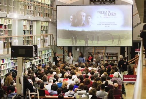 Los actores y los productores del filme que se estrenó en el marco del Cibra