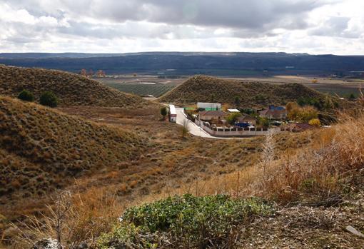 Parte de la escarpada urbanización Balcón del Tajo, en Colmenar de Oreja