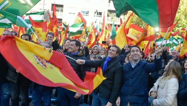 El presidente del PP, Pablo Casado, en Granada