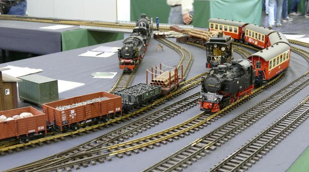 Una de las maquetas que se exhibirá en la primera exposición nacional de modelismo ferroviario en la Casa de Campo