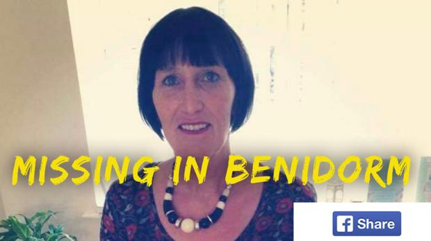 Imagen de la mujer desaparecida, difundida por el Ayuntamiento de Benidorm