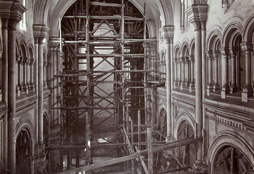 Imagen inédita del interior de la iglesia de Santo Tomás