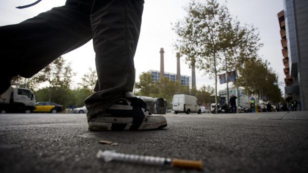 Un consumidor de heroína en una imagen de archivo