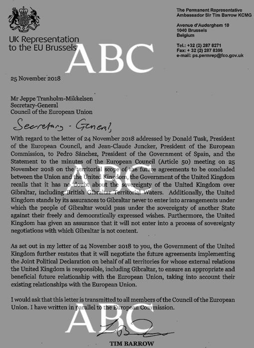 Carta del Gobierno británico