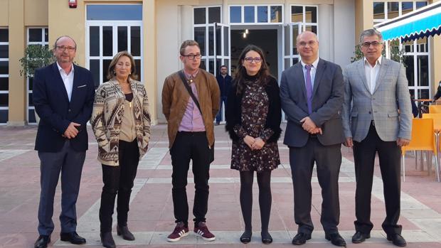 La consellera Mónica Oltra, este martes en una visita a Alicante