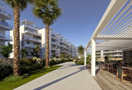 Instalaciones y terraza en los espacios comunes