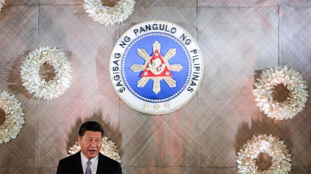 Jinping, en su reciente visita a Filipinas