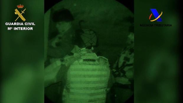 Imagen del operativo desplegado por la Guardia Civil en Cádiz