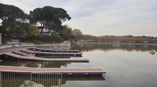 El lago, esta semana, durante los últimos días de reforma