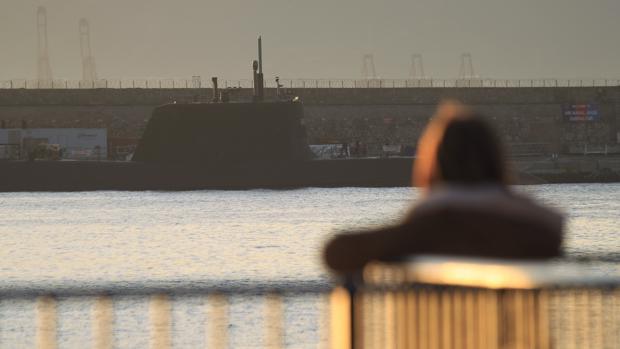 Imagen del submarino que ha atracado en Gibraltar