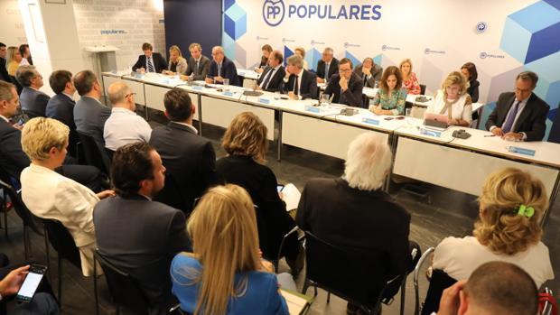 Reunión de la dirección del PP de Madrid