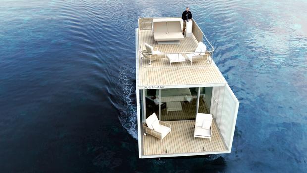 Imagen del prototipo de la casa flotante, ubicada en Denia (Alicante)