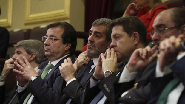 García-Page ha sido uno de los once presidentes autonómicos que ha asistido al acto en el Congreso con motivo del cuarenta aniversario de la Constitución