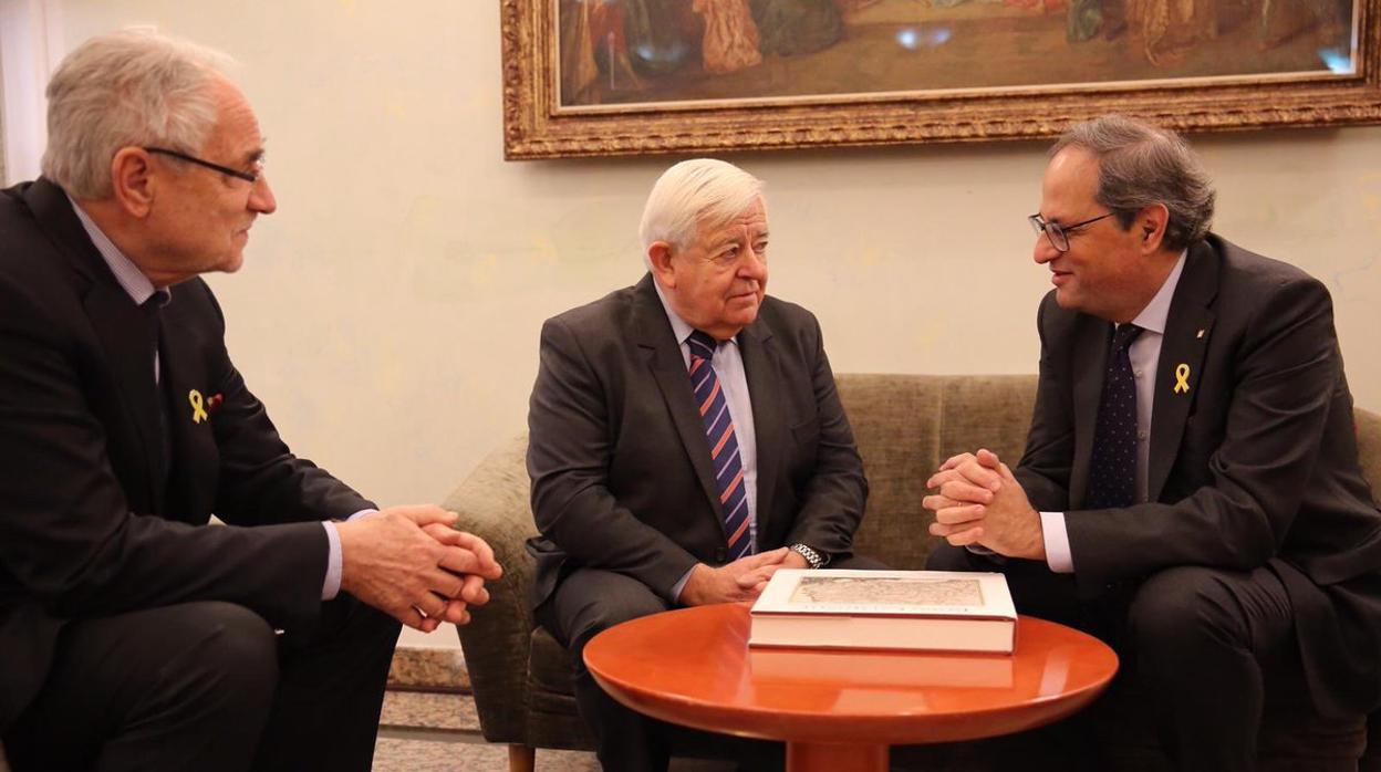 Quim Torra se reúne con el presidente esloveno Borut Pahor