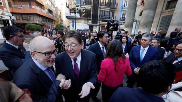 Ximo Puig en Alicante este jueves en la celebración del Día de la Constitución