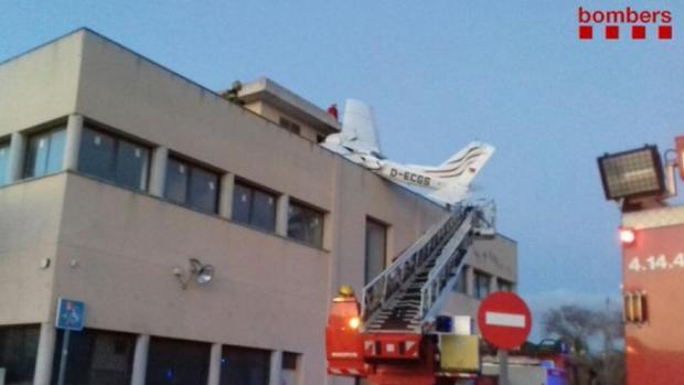 Imagen de la avioneta accidentada
