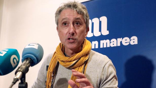 El miembro de la coordinadora de En Marea, Gonzalo Rodríguez