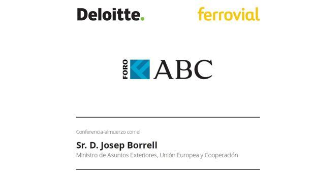 Sigue en vídeo el Foro ABC protagonizado por Josep Borrell