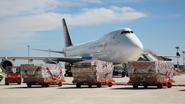 La inmensa mayoría de la mercancía transportada a través del Aeropuerto de Zaragoza es tráfico internacional