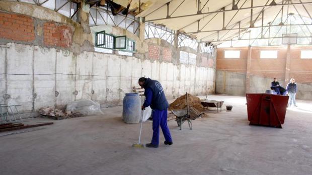 Obras realizadas hace años para estabilizar San Lázaro