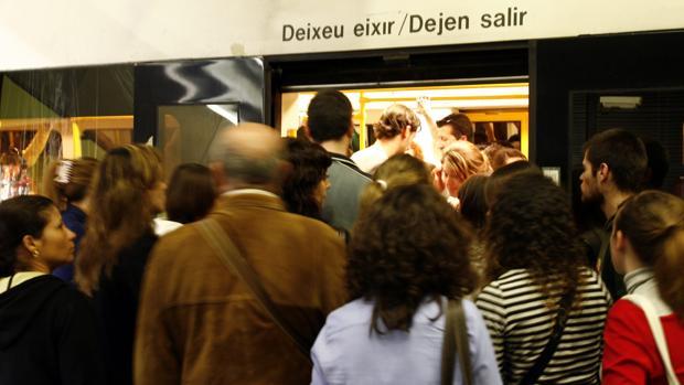Imagen de archivo de una jornada de huelga en el Metro de Valencia