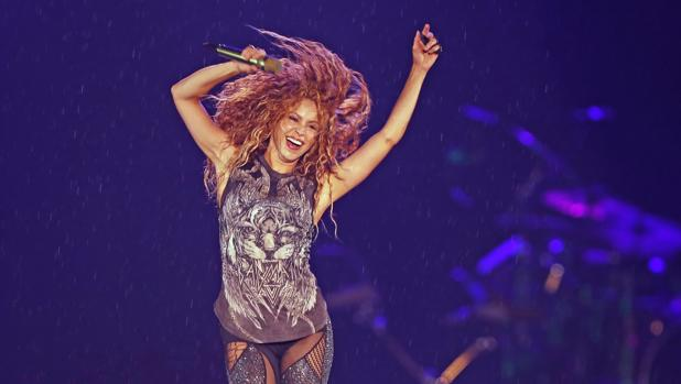 Shakira, durante un concierto de la gira «El Dorado World Tour» el pasado octubre