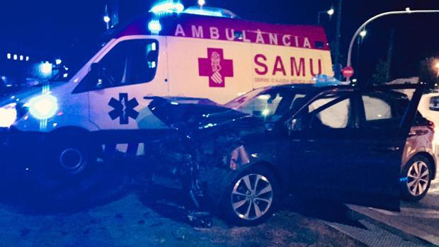 Imagen del accidente de una mujer en Alicante tras una comida de empresa