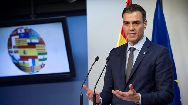 Pedro Sánchez, en la rueda de prensa posterior al Consejo Europeo de Bruselas