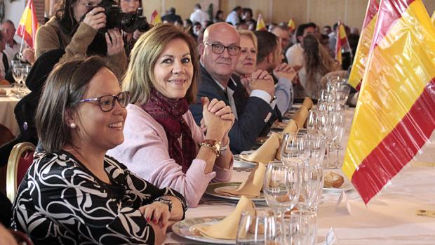 Cospedal , este domingo, en la comida del PP, en Toledo