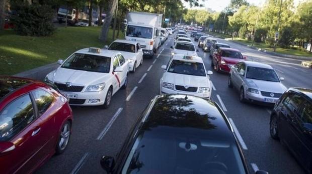Imagen de archivo del tráfico madrileño