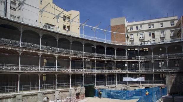 El interior del Beti Jai, durante las obras de consolidación de la estructura
