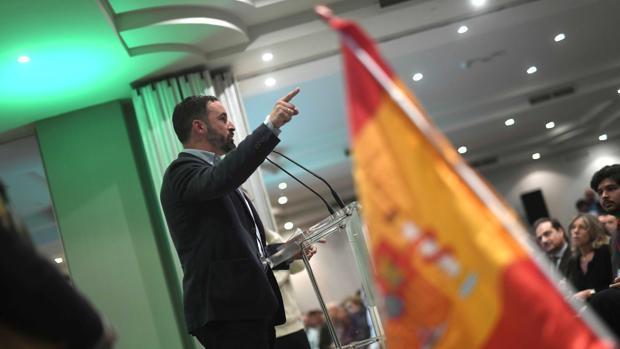 Imagen de Santiago Abascal en un mitin de Vox celebrado el pasado 20 de noviembre
