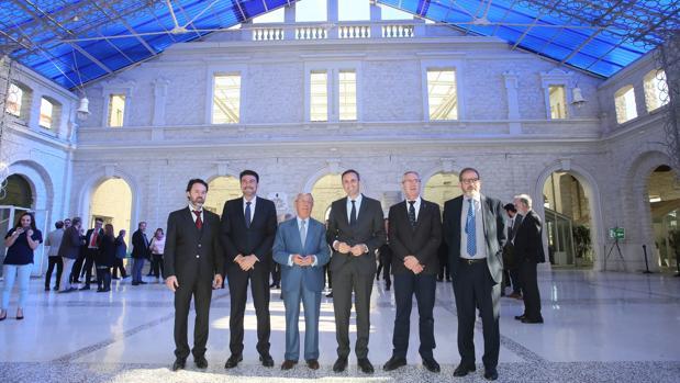 El presidente de la Diputación, el alcalde de Alicante y los representantes de la RAG, en Casa Mediterráneo